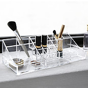 BINO 'The Perfectionist' 20 Compartment Acrylic Makeup and Jewelry Organizer