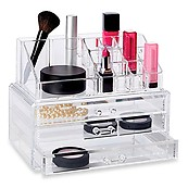 Clearly Chic Deluxe 2-Piece 3 Drawer Cosmetic Organizer Set