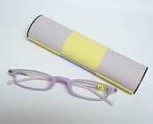 Mini Reading Glasses Purple and Yellow Magic Case