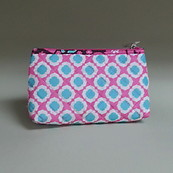 Modella Cosmetics Bag Make up bag pink blue and white flowers