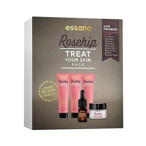 Essano Rosehip Treat Your Skin pack - Night Cream, Cleanser, Moisturiser & Oil