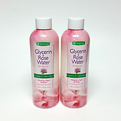 De La Cruz Glycerin - Rose Water Skin Moisturizer 8 oz - Lot of 2 Bottles