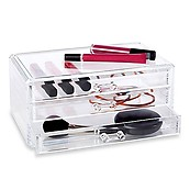Clearly Chic Deluxe 3 Drawer Cosmetic Organizer