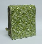 Green Beaded Clutch Handbag