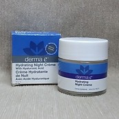 Derma E Hydrating Night Creme with Hyaluronic Creme 2 oz