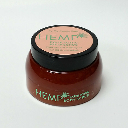 My Beauty Spot Hemp Exfoliating Body Scrub 6.7 oz Sea Salt Hemp Seed Oil Sealed