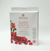 Rata & Co Nourishing Rosehip & Raspberry Oil Collagen Shea Sheet Face Mask 5 PCS