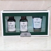 The Body Shop Tea Tree Essentials 5 PC Kit Facial Wash Mattifying Toner & Lotion