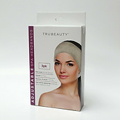 Trubeauty Adjustable Spa Headbands 3 Pack One Size 2 Gray 1 Ivory