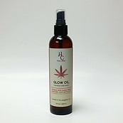 Hemp Culture Body Glow Oil Rose Scent w/ Hemp Seed Avocado & Apricot Oil 8 oz