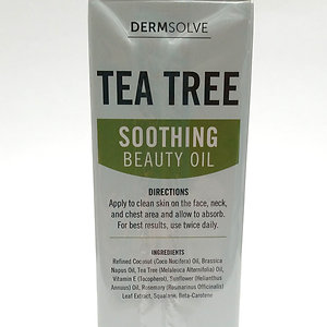 Derm Solve Tea Tree Soothing Beauty Oil 1 oz Soothes Calms remove impurities