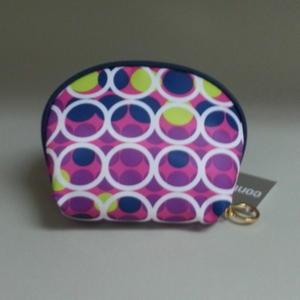 Make Up Bag Blue Lime Green purple