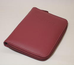 Red Passport Cover with Zipper