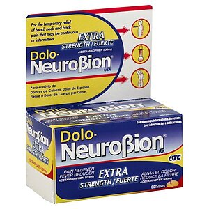 Dolo Neurobion Extra Strength Pain Reliever Fever Reducer 60 tablets