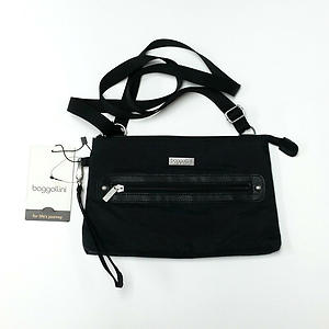 Baggallini Black Crossbody Bag Travel Nylon Water Resistant MAM431B0001