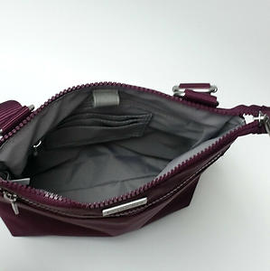 Baggallini Plum Eggplant Purple Crossbody Bag Purse Travel Nylon Water Resistant